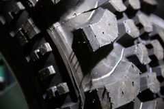 Close up of a brand new tire of a 4x4 car. Color detail shot of Royalty Free Stock Image