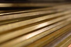 Close up of brass bars Stock Image