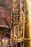 Close up of brass instrument Stock Image