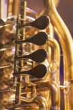 Close up of brass instrument stock photos
