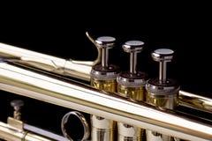Close up brass trumpet Royalty Free Stock Photos
