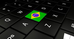 Close up of Brazil button. Royalty Free Stock Images