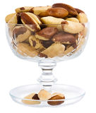 A close-up of Brazil nuts on a white background Royalty Free Stock Image