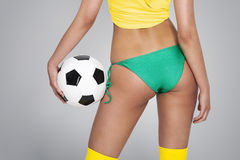 Close up of brazilian soccer player Stock Photos