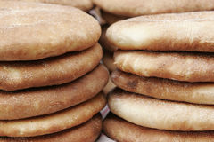 Close-up of bread. Close-up of some rounded bread Stock Images