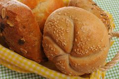 Close up of Bread rolls Stock Images