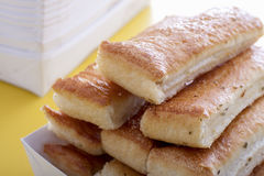 Close up of bread sticks Royalty Free Stock Image