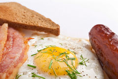 Close up Breakfast with Egg Stock Images