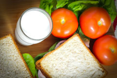 Free Close Up Breakfast With Fresh Milk Food Royalty Free Stock Photography - 33757657