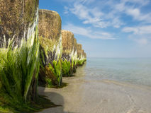 Close-up of breakwaters in the Baltic Sea Stock Photo