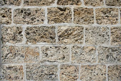 Close-Up of Brick Wall Royalty Free Stock Photography