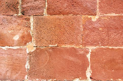 Close-up brick wall Royalty Free Stock Photos