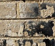 Rugged Brick Wall - Close Up Royalty Free Stock Photos