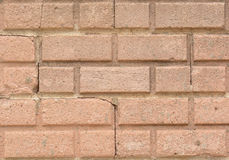 Close up brick wall with cracks Stock Images
