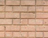 Close up brick wall with cracks Stock Photos