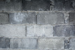 Close up Brick wall gray brick With texture. And background Royalty Free Stock Image