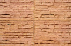 Close up of a brick-wall, Modern stone Royalty Free Stock Photos