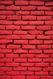 Close-up of a brick wall painted red Stock Photography