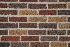 Brick Wall with various colors Royalty Free Stock Photo