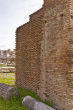 Close up of brick wall  Roman Forum Stock Photography