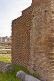 Close up of brick wall  Roman Forum Stock Photography