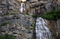 Close up of Bridal falls in utah Stock Photo