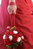 Close-up of the bride's bouquet. Of roses Royalty Free Stock Photo