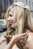 Close up of Brides hair Royalty Free Stock Photo