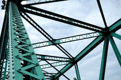 Close up Bridge Girders of Memorial Bridge. Close up Bridge Girders of Memorial Bridge, Bangkok Thailand Stock Photos