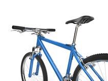Close up of bright blue metallic mountain bike Stock Image