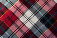 Close up of bright chequered viscose fabric Royalty Free Stock Photos