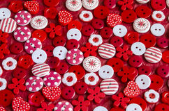Close-up of bright colorful buttons on background. Royalty Free Stock Images