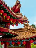 Chinese Temple roof details against blue sky Stock Photography