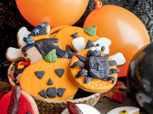 Close-up of bright and delicious halloween cookies Royalty Free Stock Image