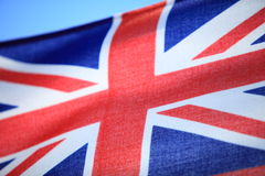 Close up british maritime red ensign flag Royalty Free Stock Photos