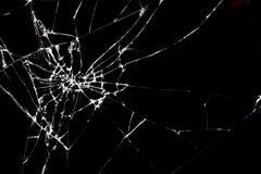 Close up of Brokan black glass Stock Images