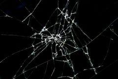 Close up of Brokan black glass Royalty Free Stock Image