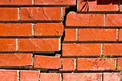Close Up Broken Brick Wall Stock Image