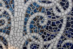 Broken ceramic plate background Royalty Free Stock Photography