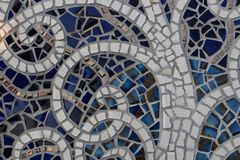 Broken ceramic plate background Stock Image