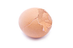 Close up of broken egg. Stock Images