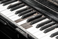 Close-up broken piano keyboard Royalty Free Stock Photos