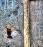 Close up of a broken window in hdr Royalty Free Stock Photos