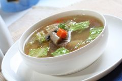 Close up of broth soup Royalty Free Stock Photography