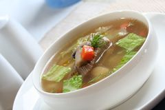 Close up of broth soup Royalty Free Stock Photos