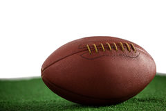 Close up of brown American football Stock Photo
