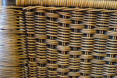 Close up brown bamboo basket texture background Royalty Free Stock Photo
