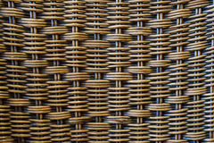 Close up brown bamboo basket texture background Stock Photography