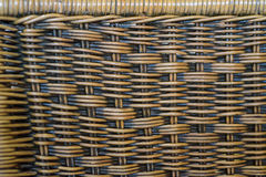 Close up brown bamboo basket texture background Royalty Free Stock Photos