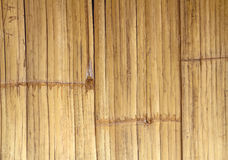 Close up brown bamboo fence background Stock Photo